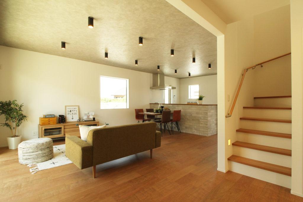 >リビング階段は家族のコミュニケーションを第一に考えたプランです。