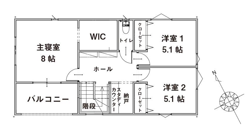 >間取り図 2F