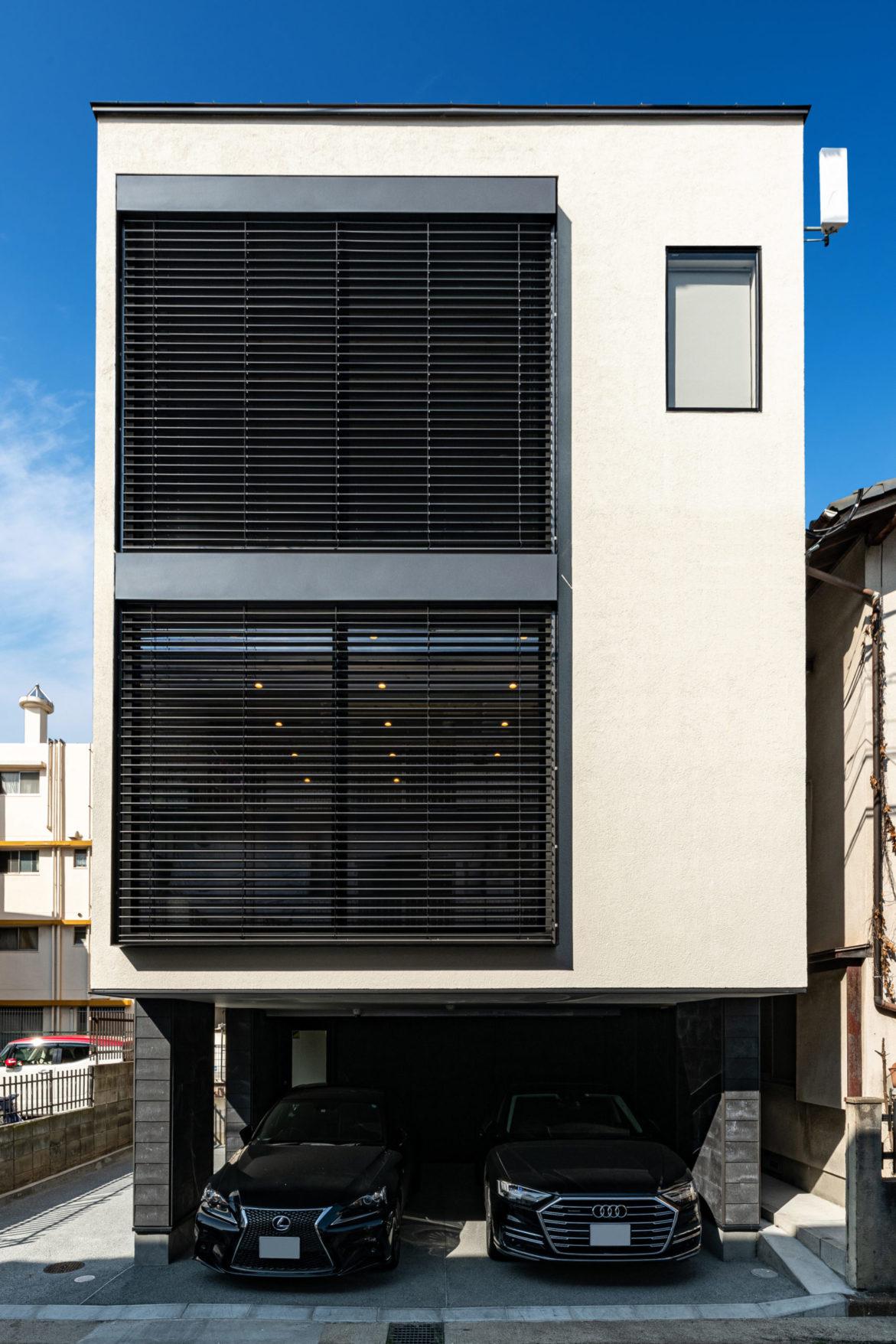 [SE構法]木造3階建オフィス+ビルトインガレージ