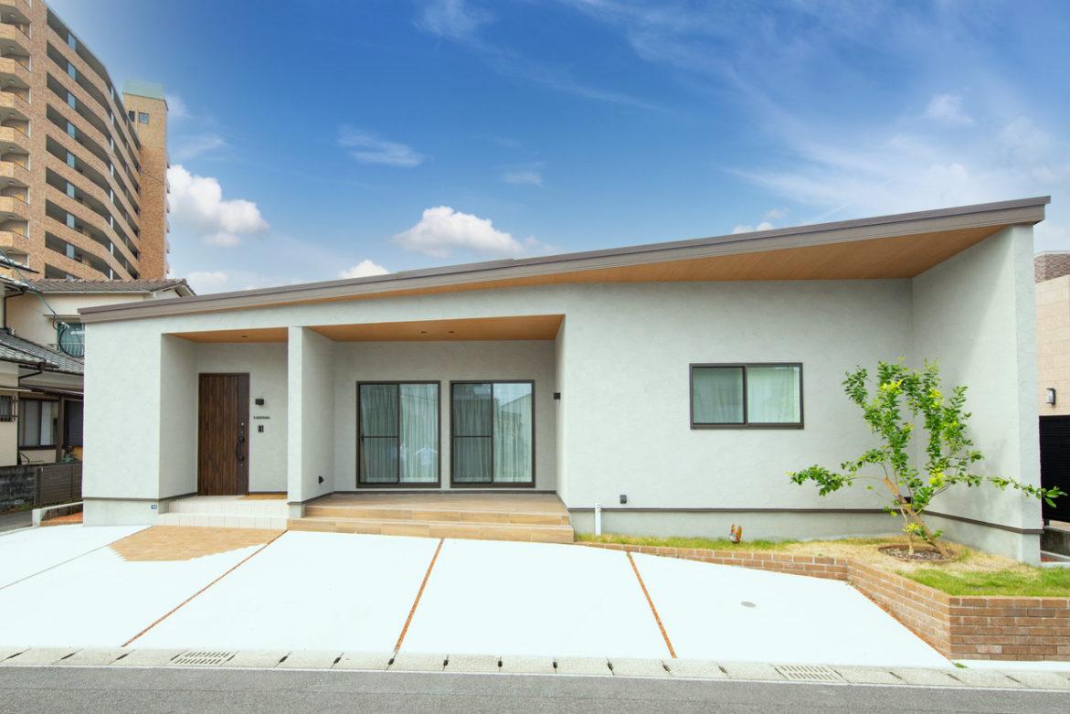 65坪の土地に建つ平屋の住まい ピットインリビングのある平屋